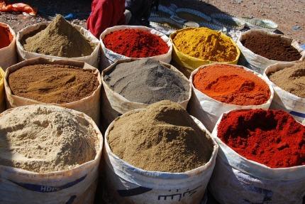 Spices Market Spice Pots Oriental Morocco