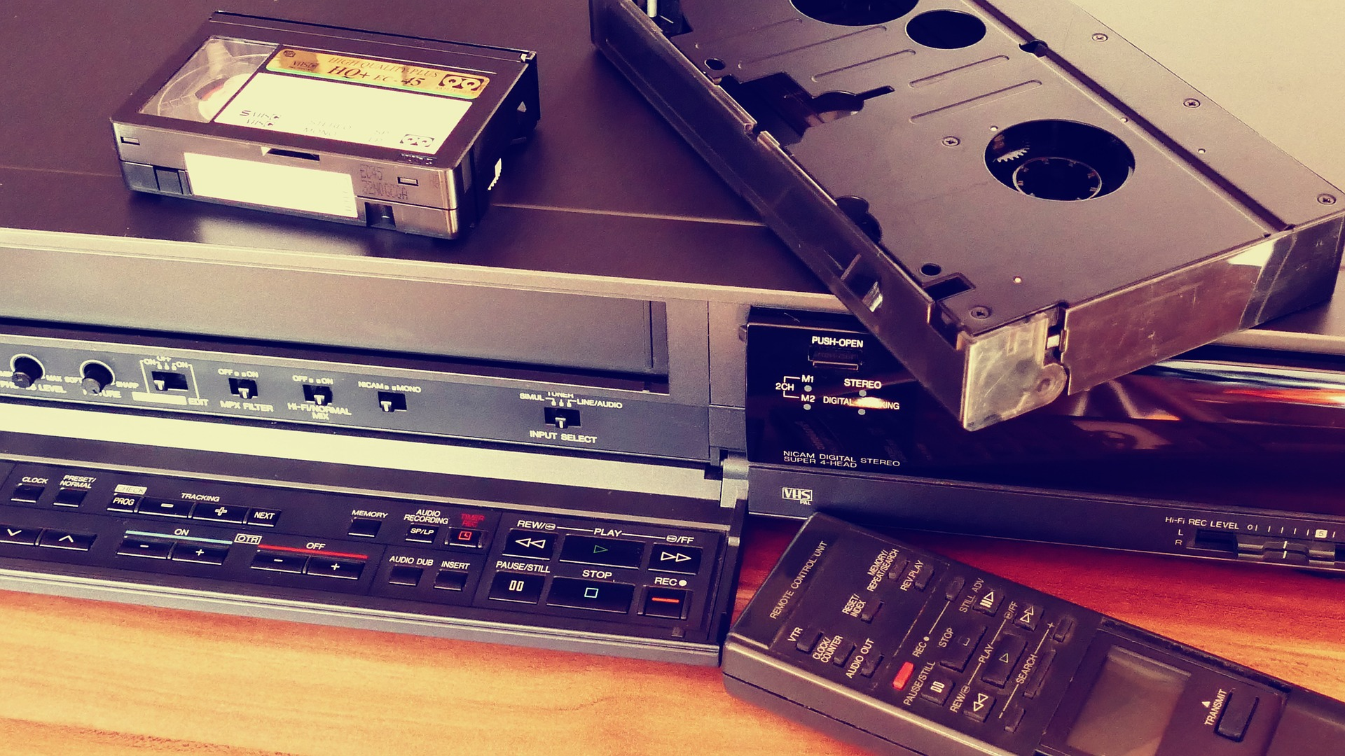 Pause. Play. Rewind – Watching the video tapes of the past.